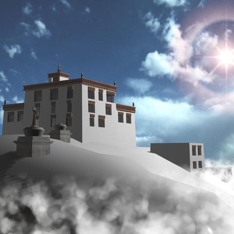 Tibet by Michel Meslet