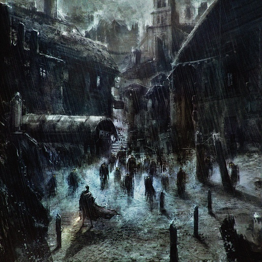 Innsmouth Harbor by Sebastien Ecosse