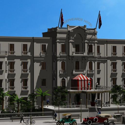 Shepheard's Hotel by Michel Meslet