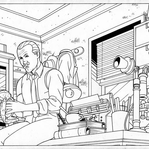 Inspector Legrasse's Office by Michel Meslet