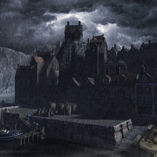 Innsmouth Harbor by Russell Smeaton