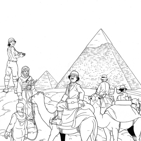 The Pyramids of Gizeh by Michel Meslet