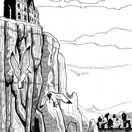 The Cliffs at Innsmouth by Sébastien Abellan