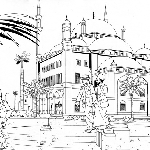 The Mosque of Mohammed Ali by Michel Meslet